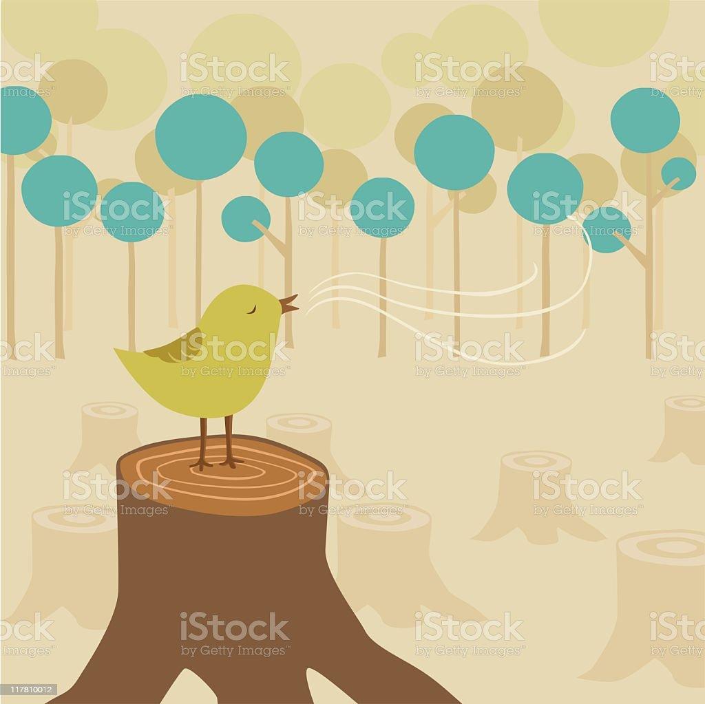Reforestation vector art illustration
