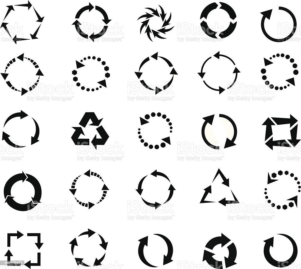 refresh arrows icon vector art illustration