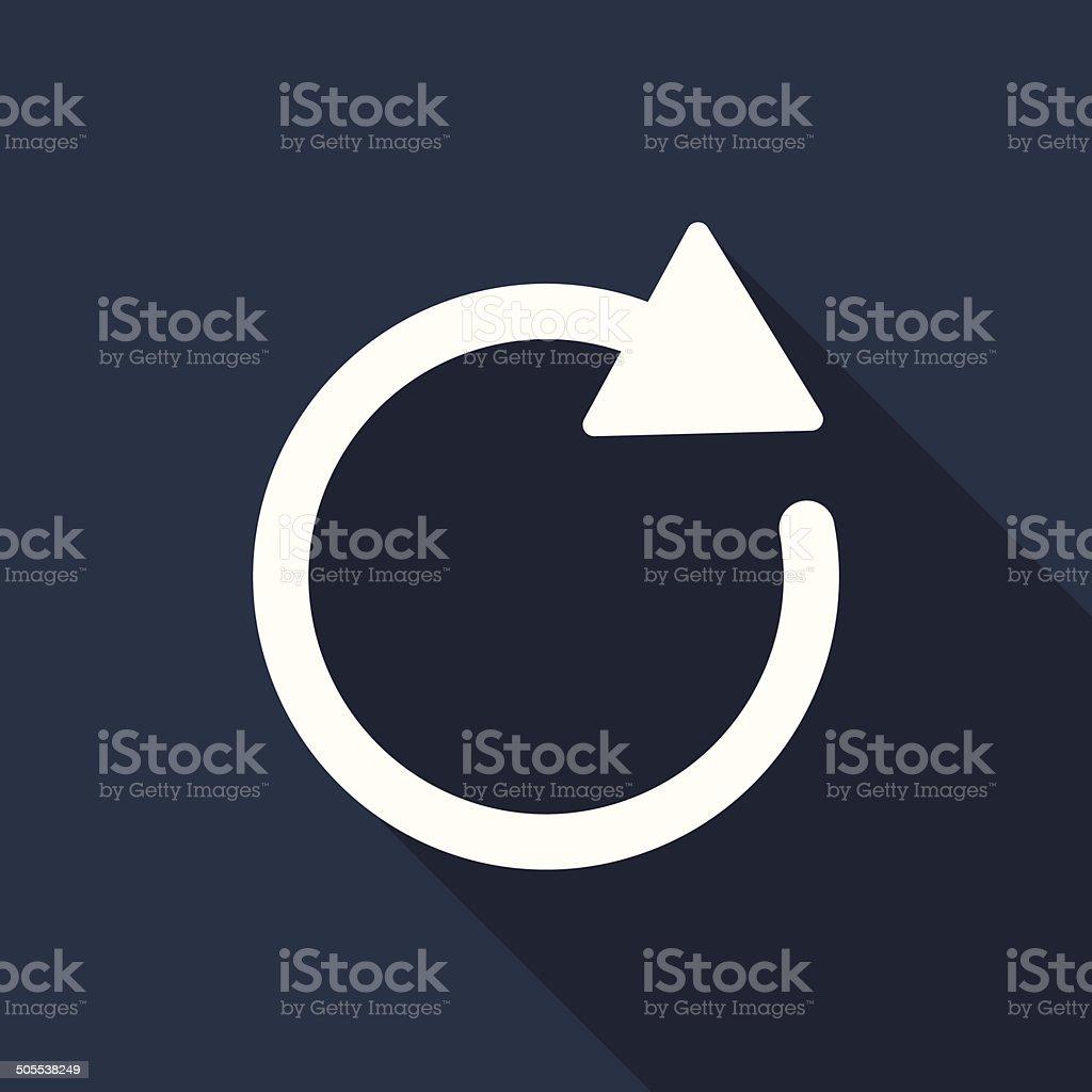 refresh icon vector art illustration