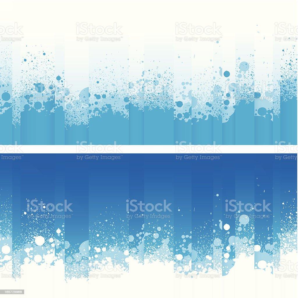 Refreshing blue splash backgrounds royalty-free stock vector art
