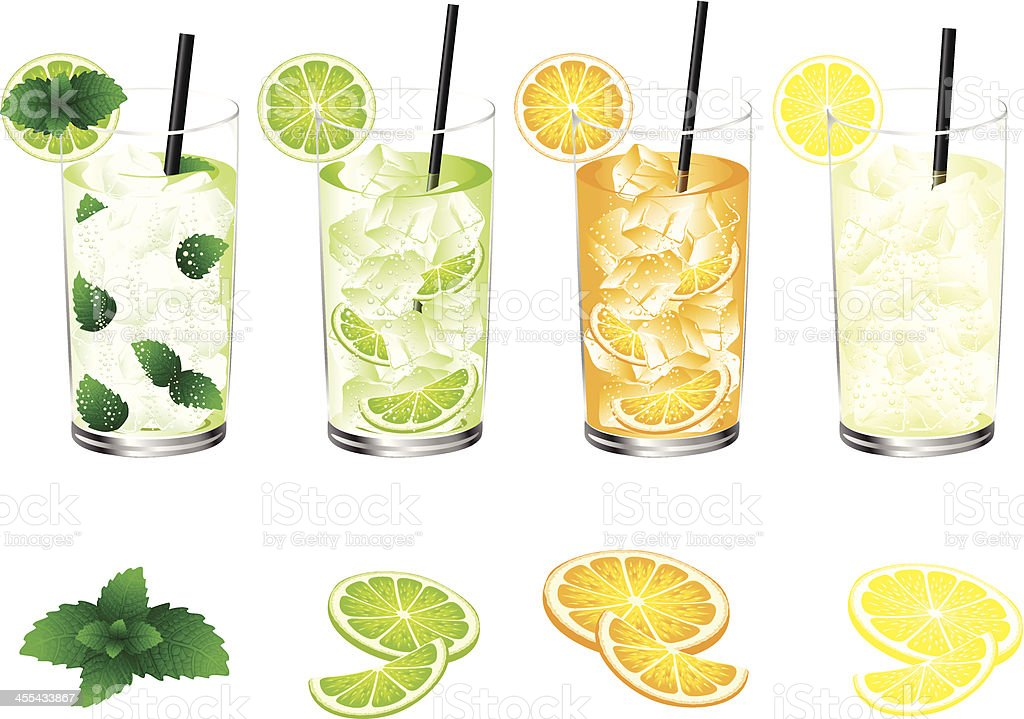 Refreshment Drink vector art illustration