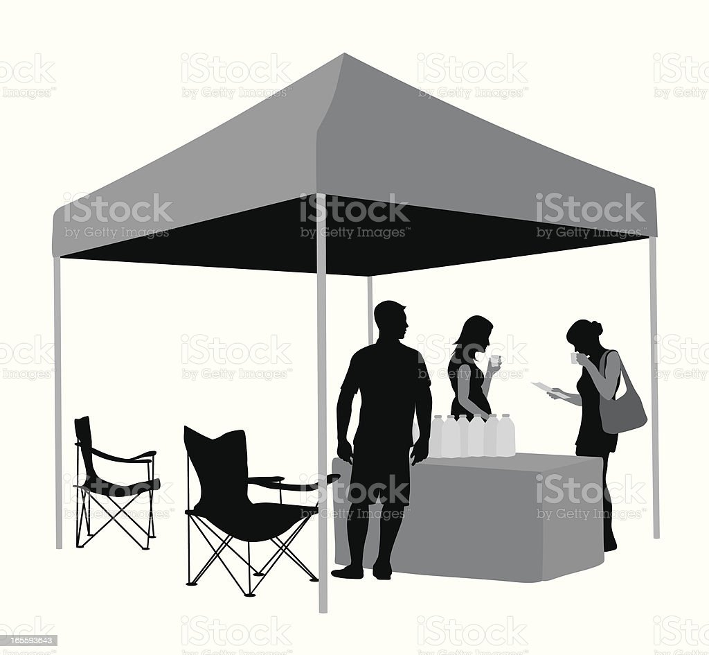 Refreshments Tent Vector Silhouette royalty-free stock vector art