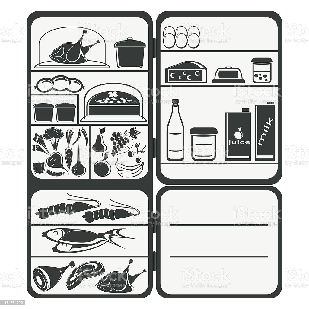 Refrigerator royalty-free stock vector art