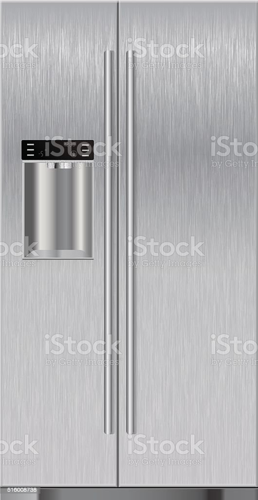 Refrigerator vector art illustration