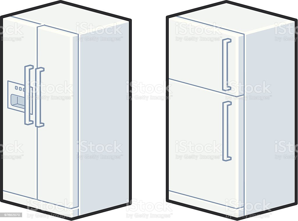 Refrigerator royalty-free stock vector art