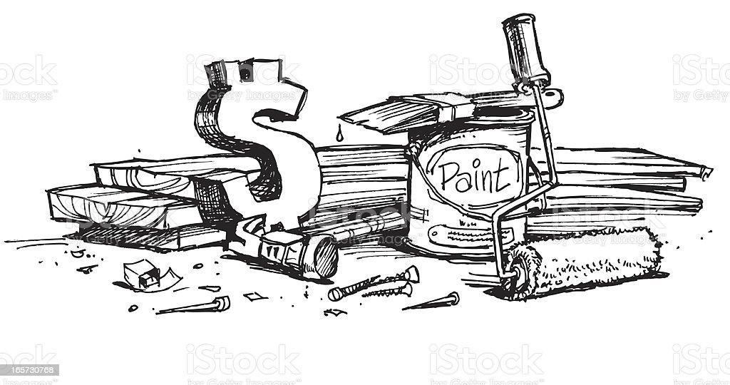 Refurbish royalty-free stock vector art