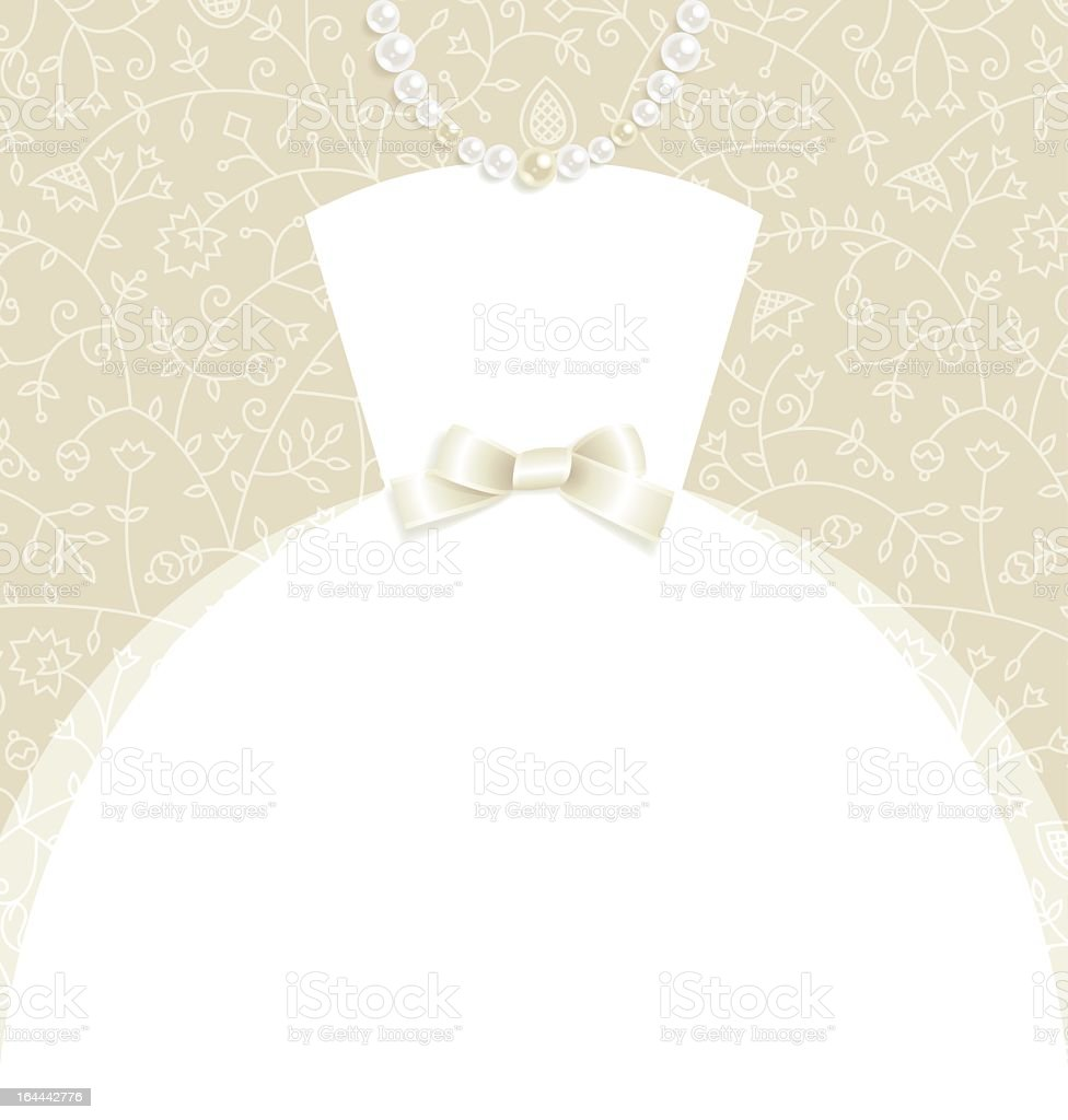 A regal and fancy wedding invitation vector art illustration