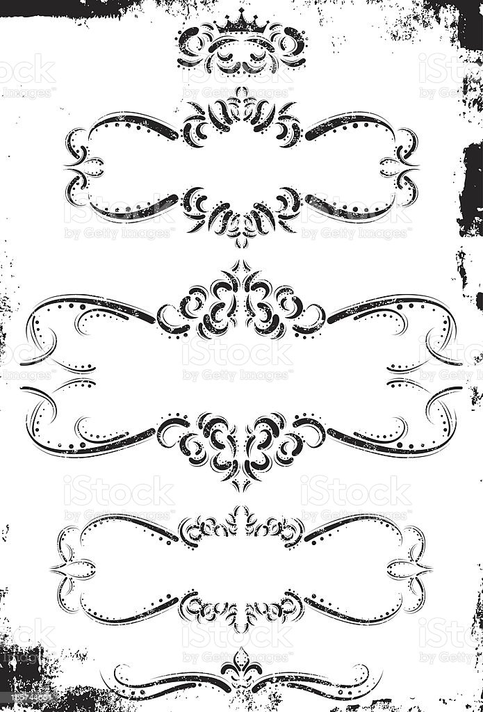 regal page frames royalty-free stock vector art