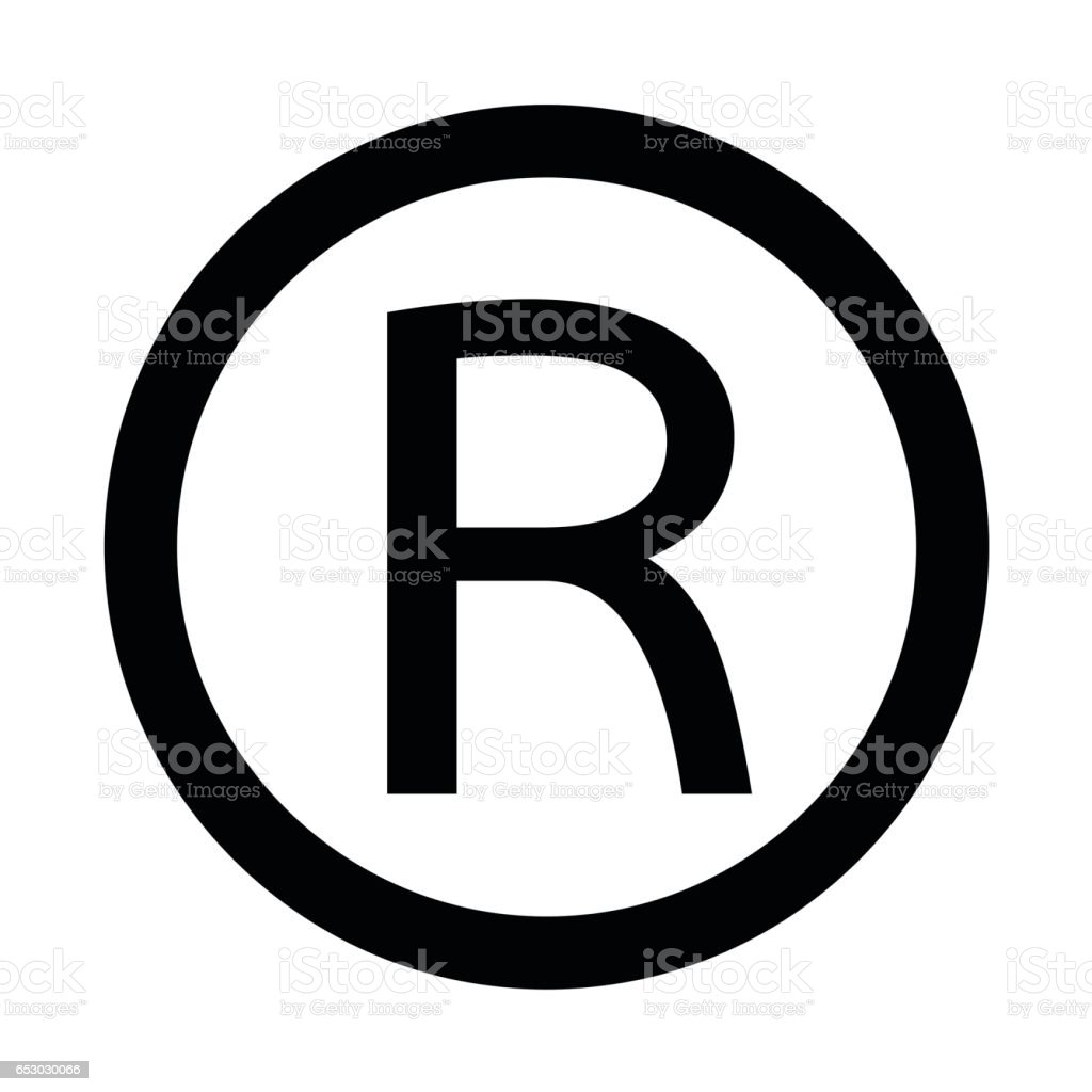 Registered Trademark Icon Vector Illustration Stock Vector Art