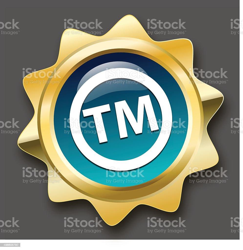 Registered trademark seal or icon vector art illustration