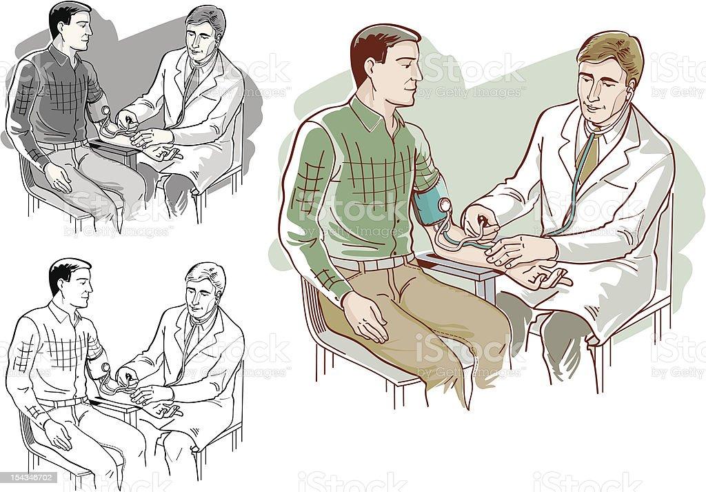 Регулярных обследований для артериального давления и гипертензия. Сток Вектор Стоковая фотография