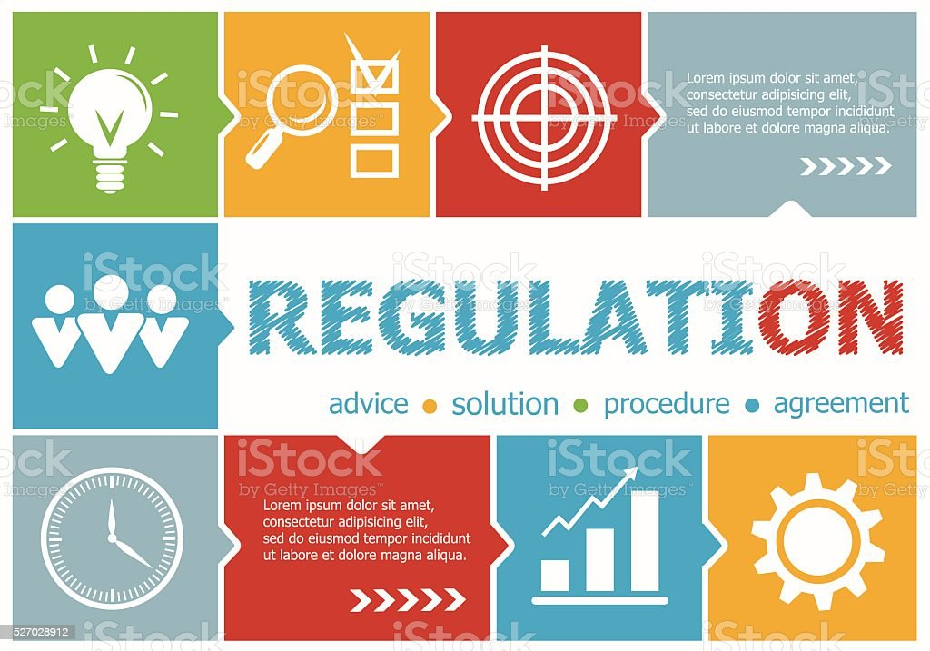 Regulation design illustration concepts for business, consulting vector art illustration