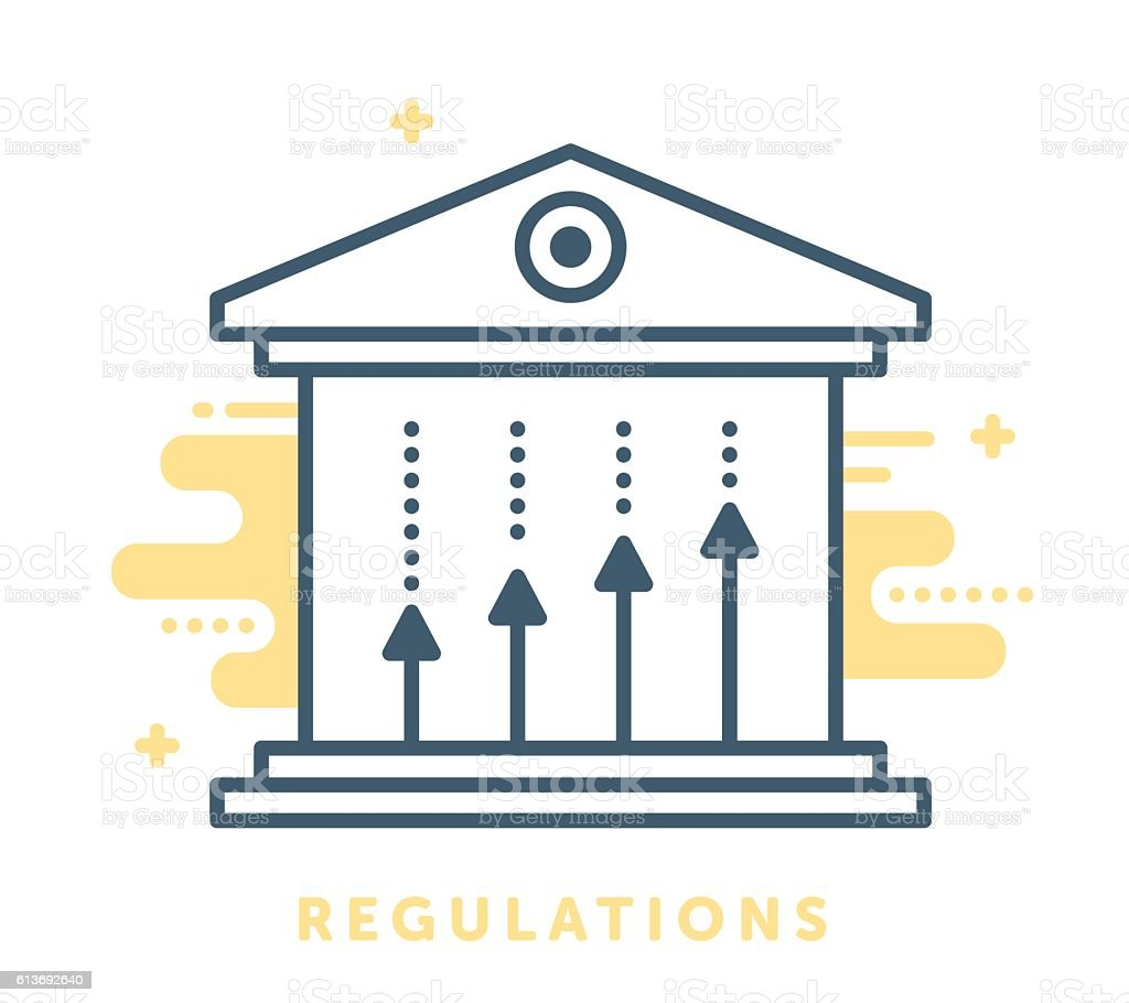 Regulations and Governance vector art illustration