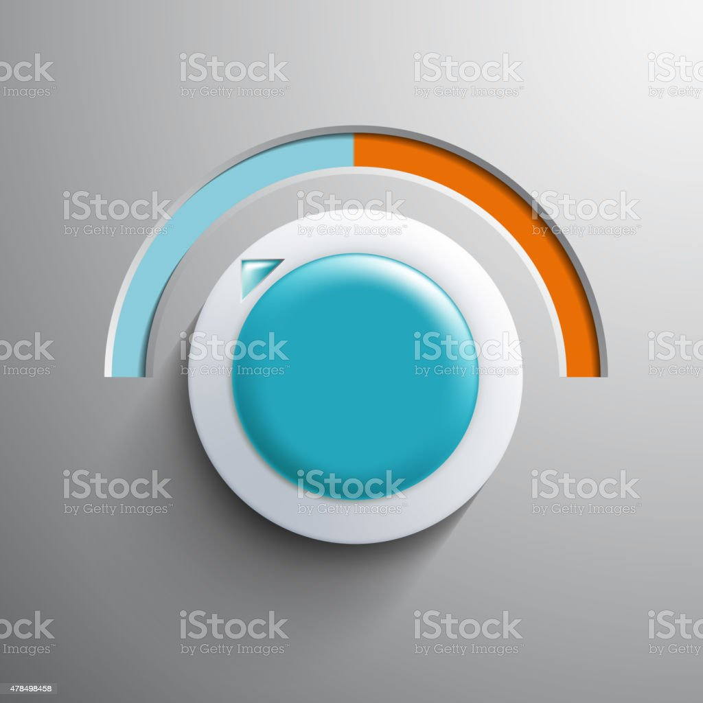 Regulator climate control. vector art illustration