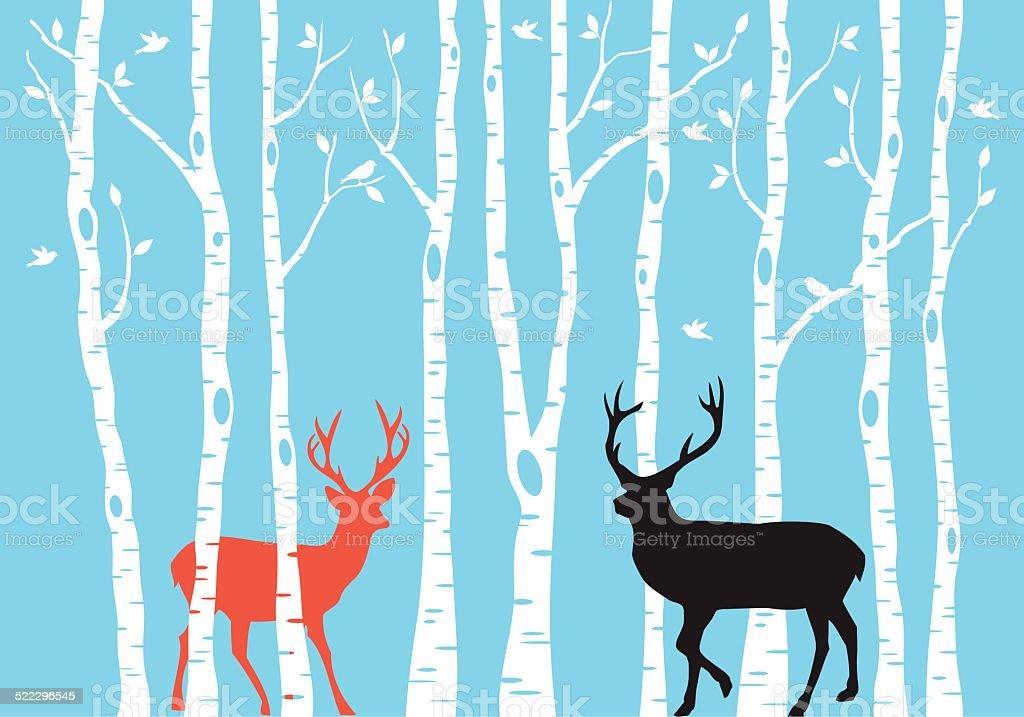 Reindeer Christmas card, vector vector art illustration
