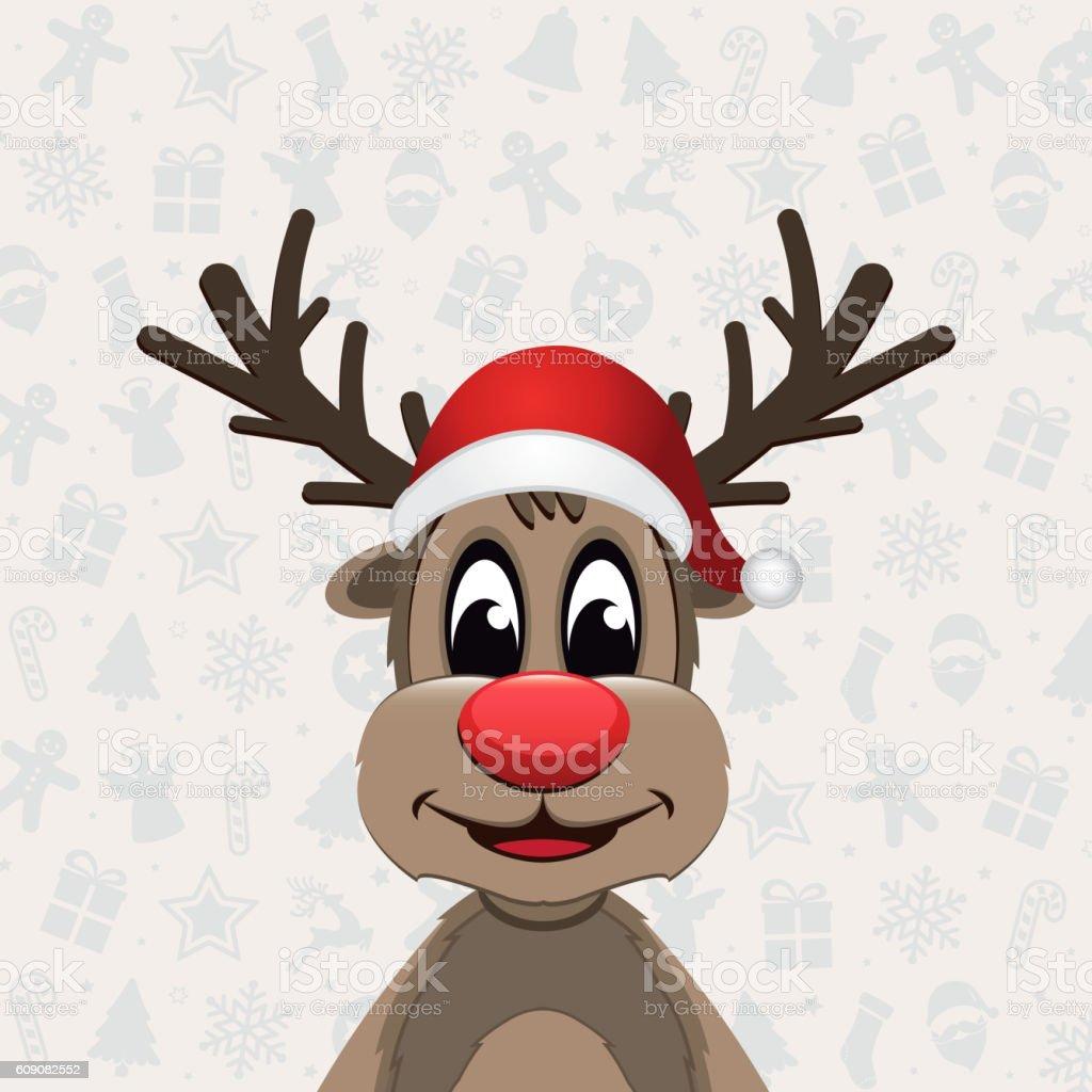 Reindeer christmas ornaments - Reindeer Christmas Ornament Background Royalty Free Stock Vector Art