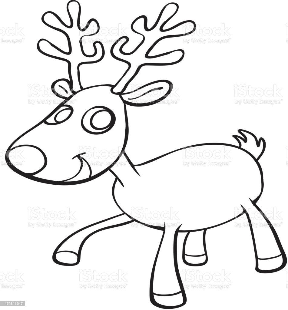 Reindeer sketch royalty-free stock vector art