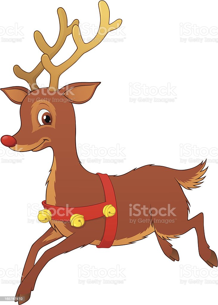 Reindeer vector art illustration