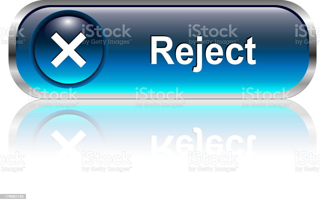 Reject Button royalty-free stock vector art