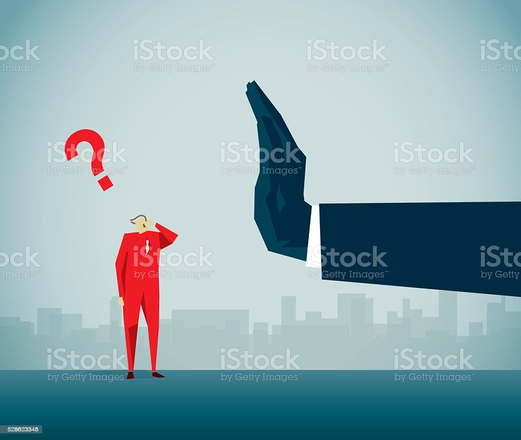 Rejection vector art illustration