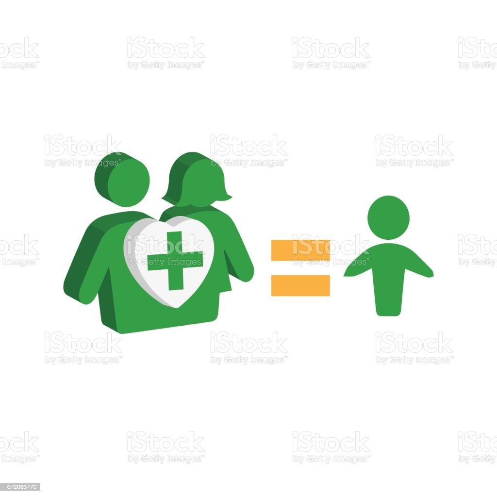 Relationship and Family Concept Design vector art illustration