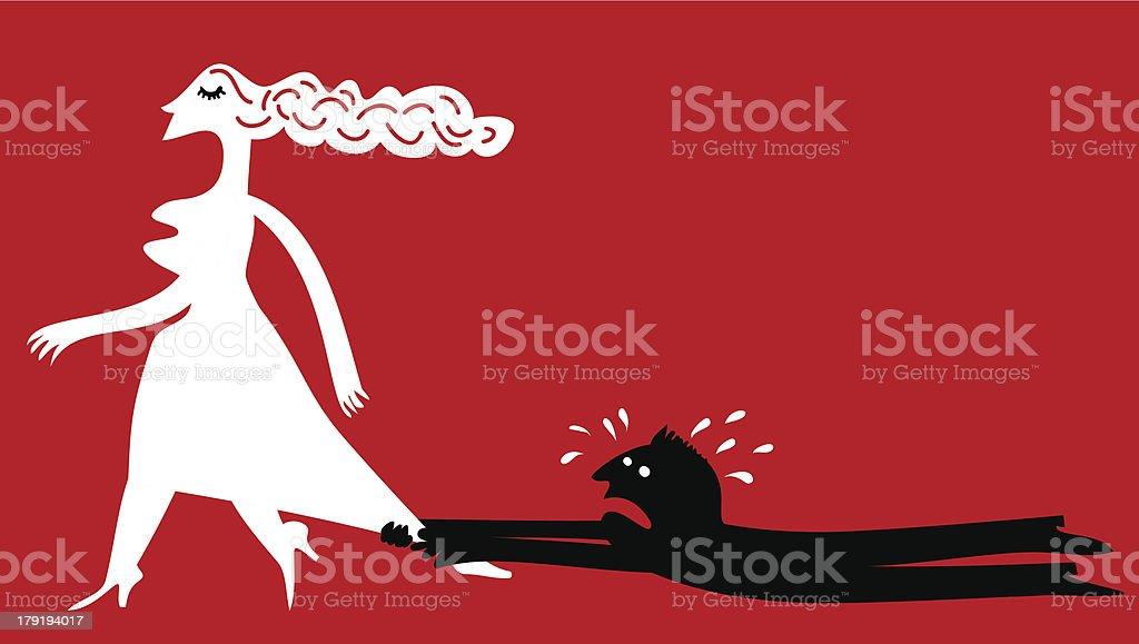 Relationship difficulties vector art illustration