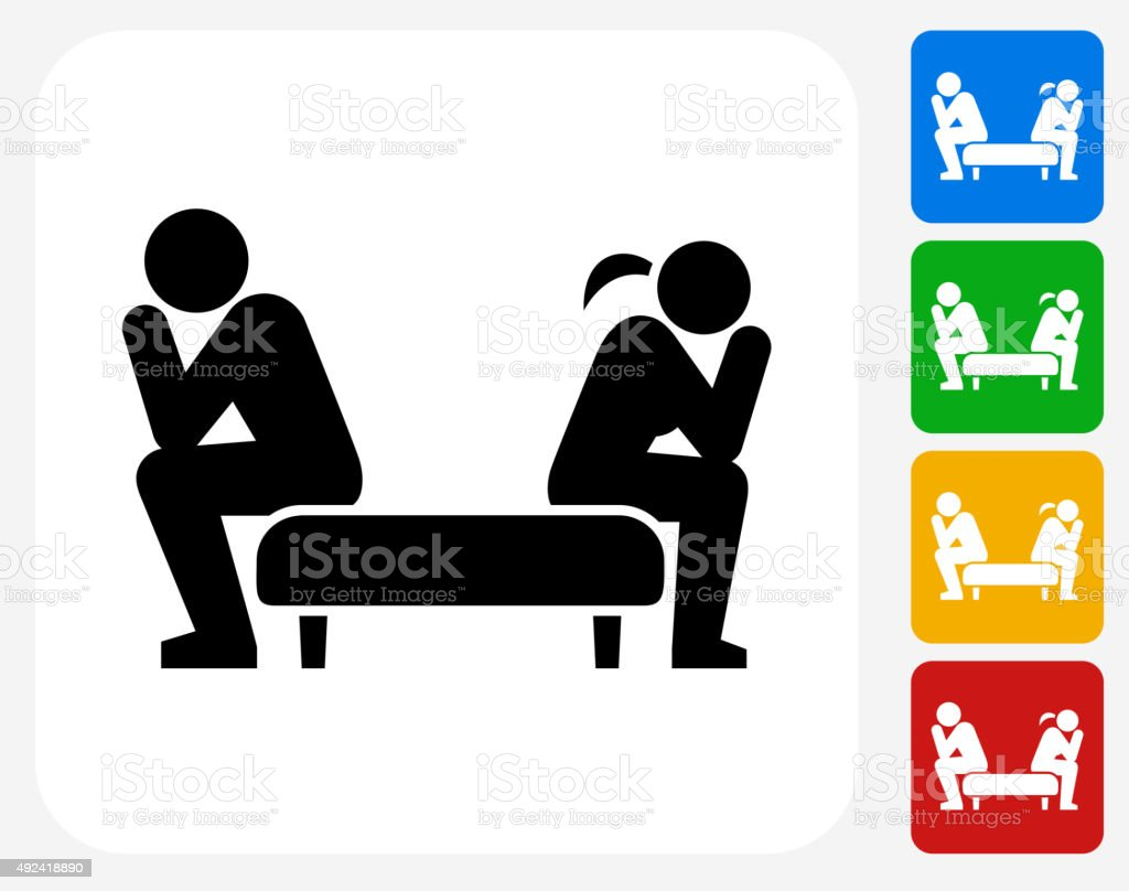 Relationship Problems Icon Flat Graphic Design vector art illustration