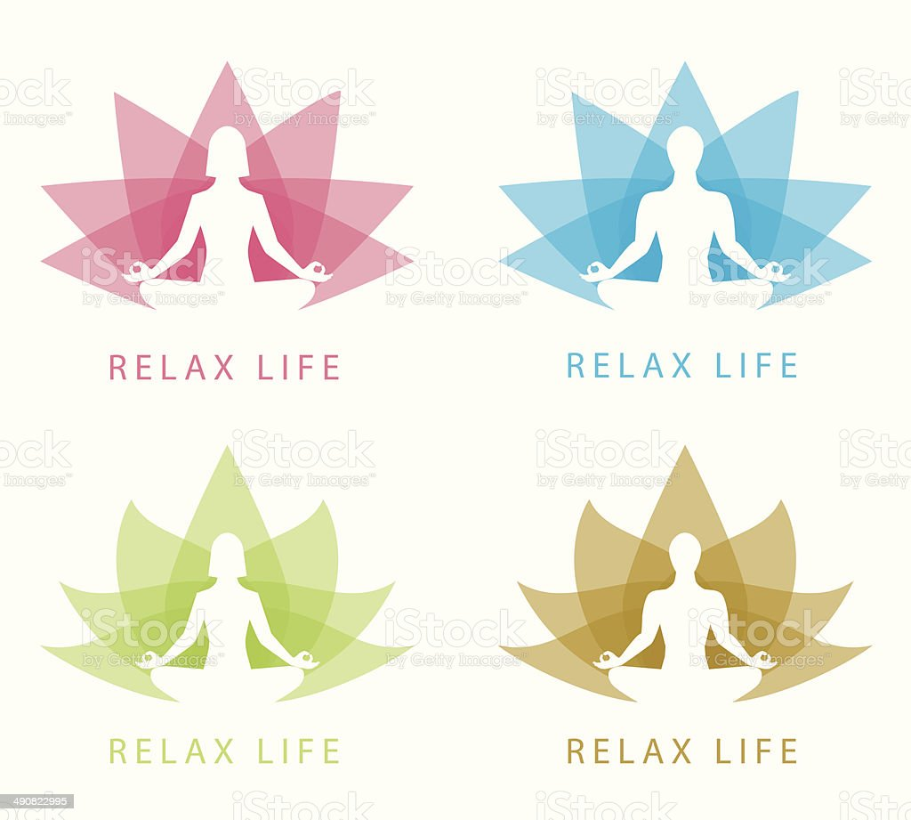 Relax symbol vector art illustration