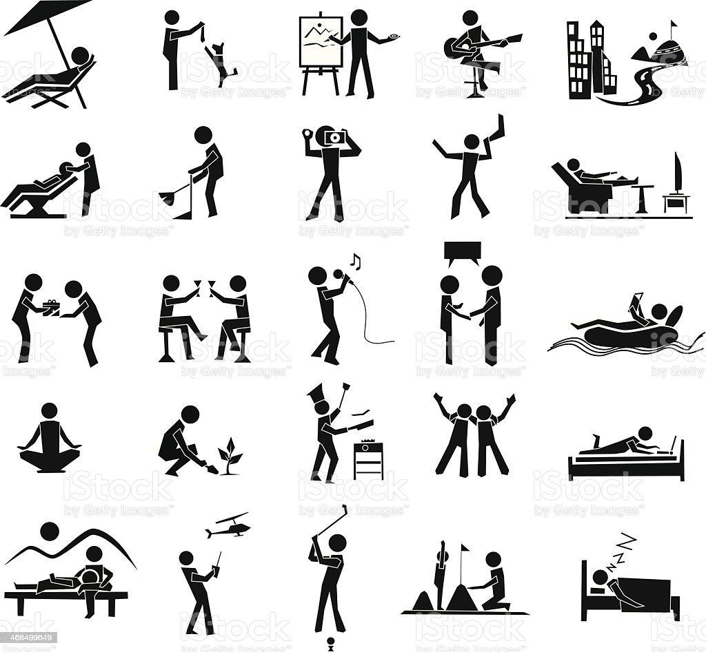 relaxation icon vector art illustration
