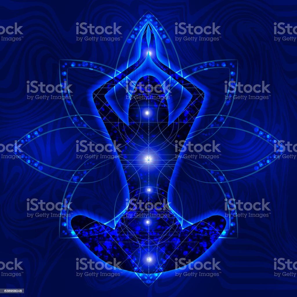 relaxation meditation yoga trance vector art illustration