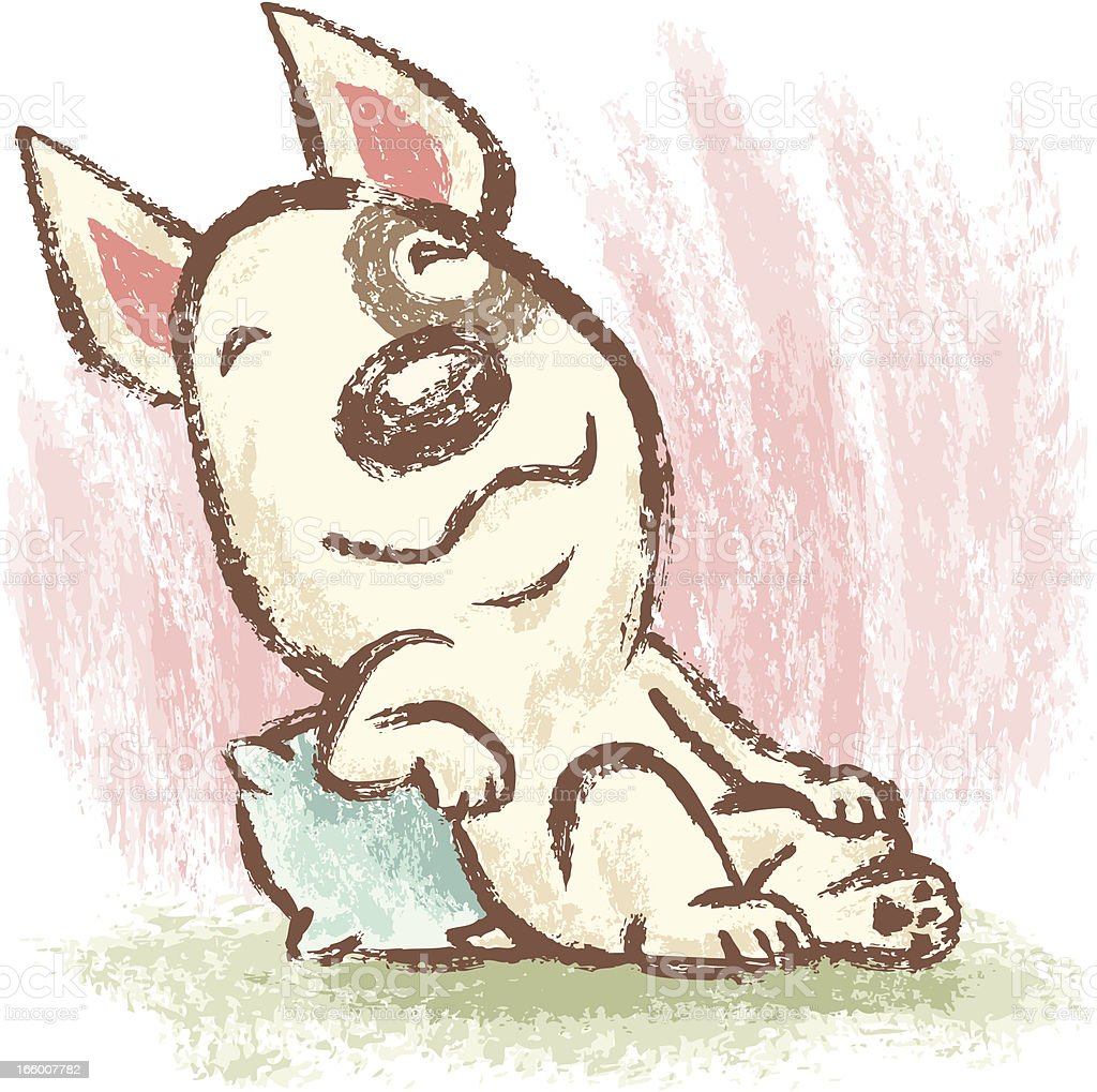 Relaxed Bull terrier royalty-free stock vector art