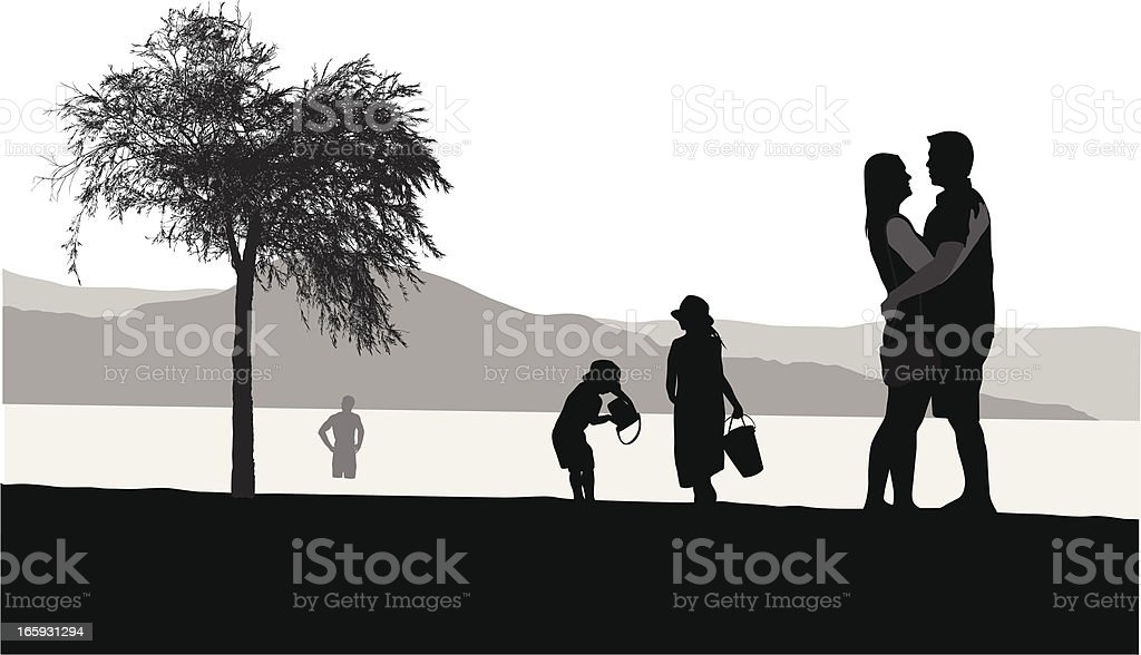 Relaxed Vector Silhouette royalty-free stock vector art
