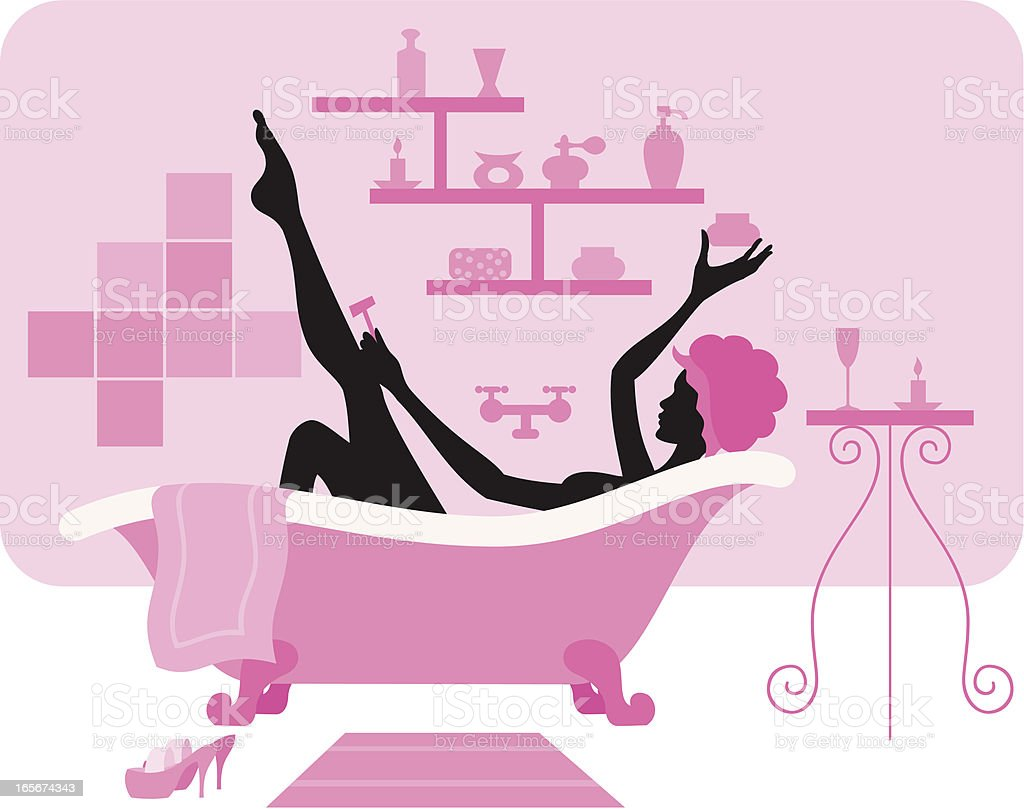 Relaxing Bath royalty-free stock vector art