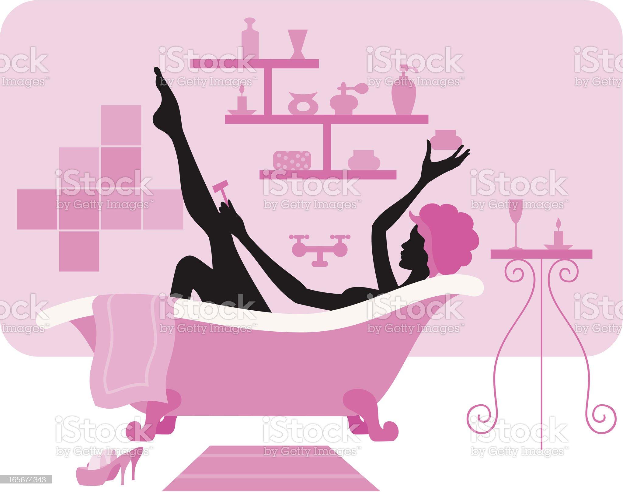 Relaxing Bath royalty-free stock vector art