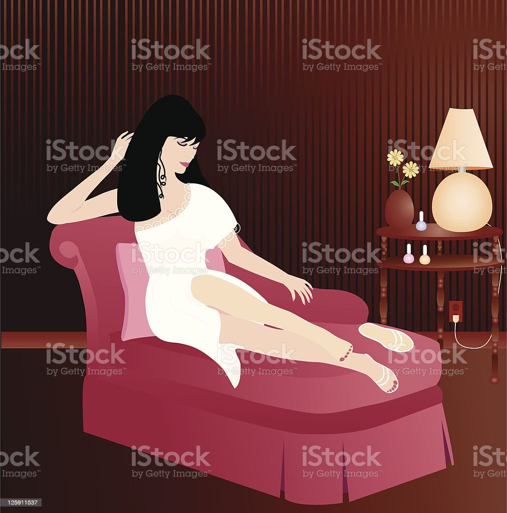 Relaxing Beauty royalty-free stock vector art