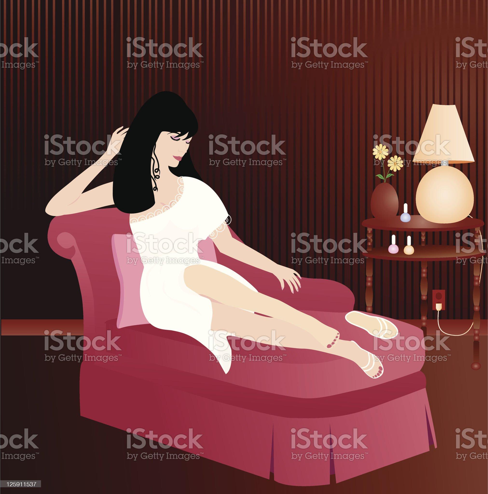 Relaxing Beauty royalty-free stock vector art