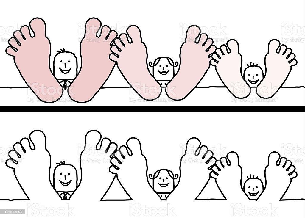 relaxing family vector art illustration