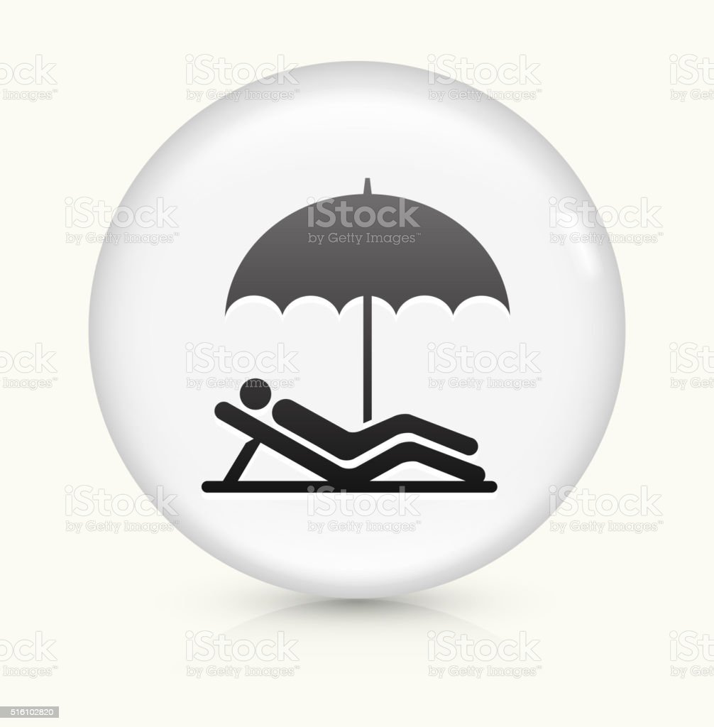 Relaxing icon on white round vector button vector art illustration