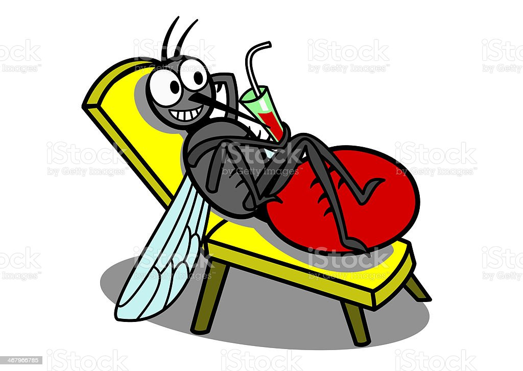 relaxing mosquito royalty-free stock vector art