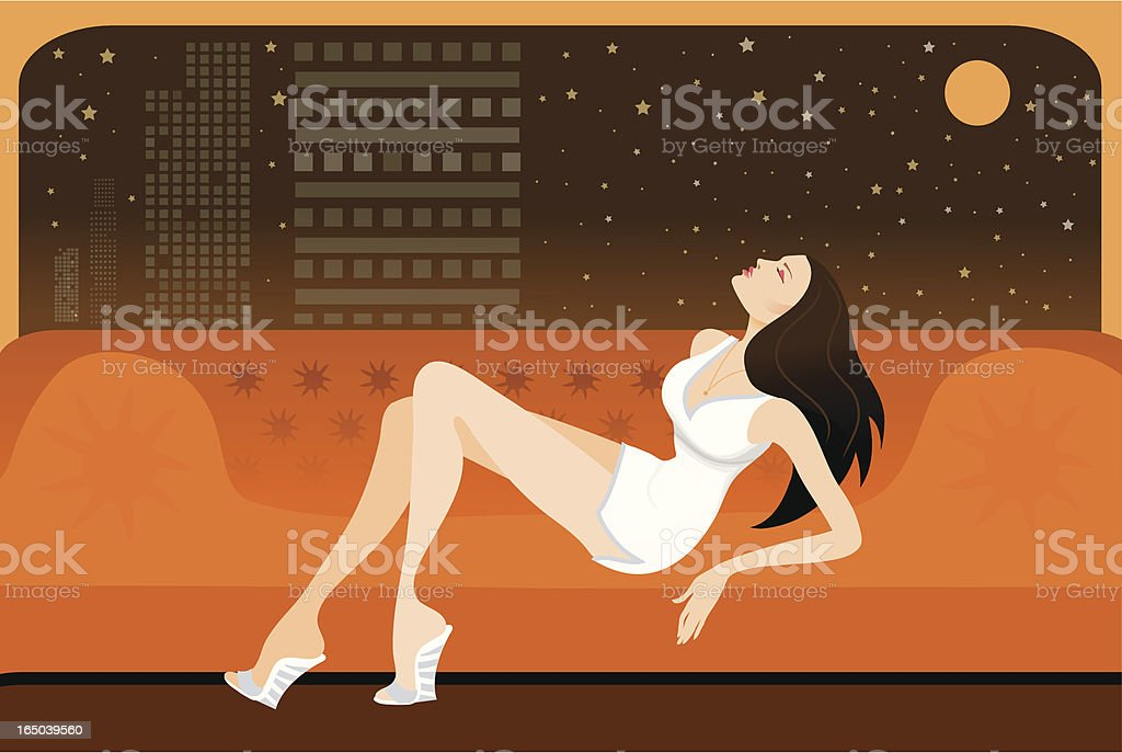 Relaxing on the sofa royalty-free stock vector art