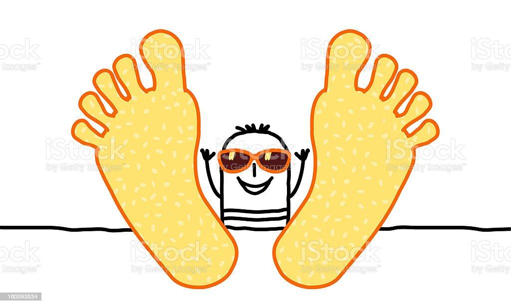 relaxing summer man royalty-free stock vector art