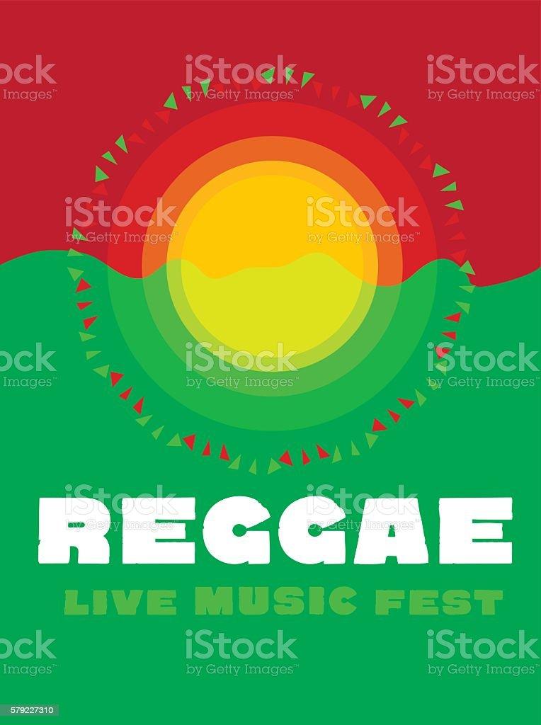 relaxing travel poster in reggae music color. Jamaica tribal sim vector art illustration