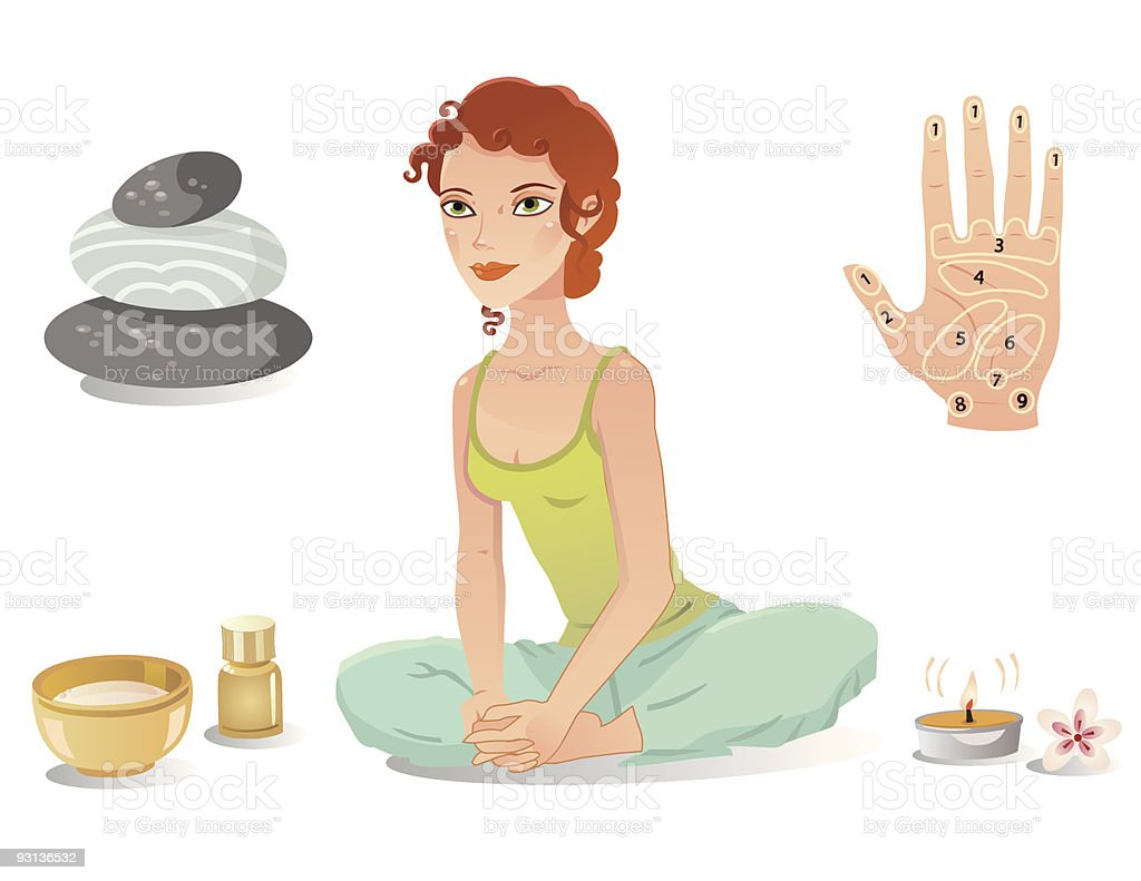Relaxing Woman royalty-free stock vector art
