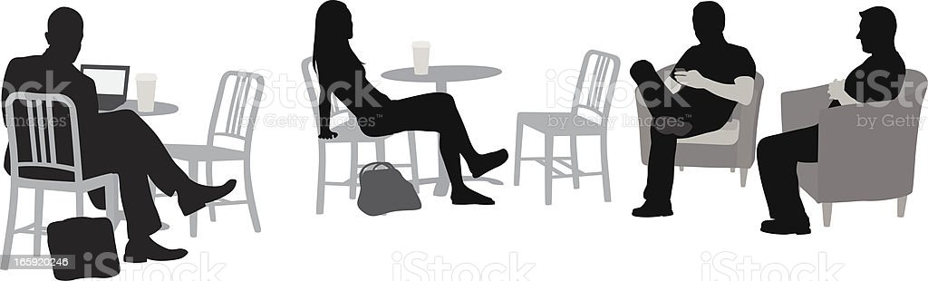 Relax'n Coffee Vector Silhouette royalty-free stock vector art