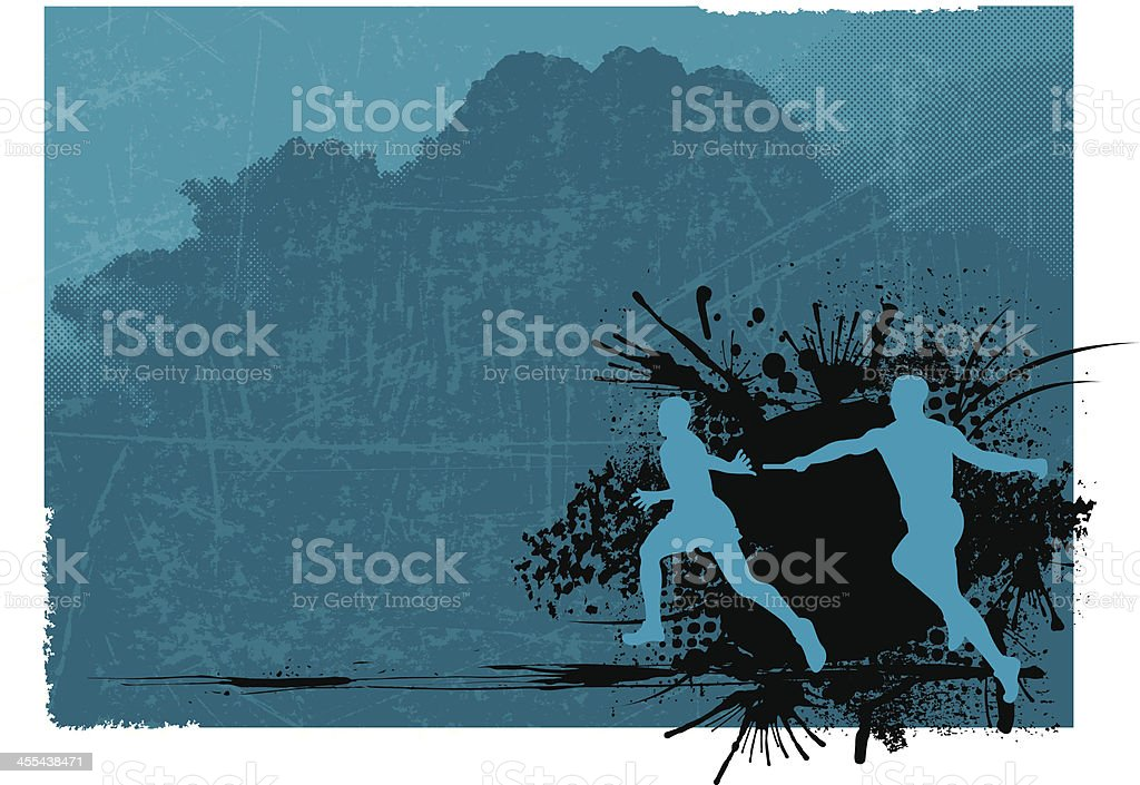 Relay Race Background - Track Event vector art illustration