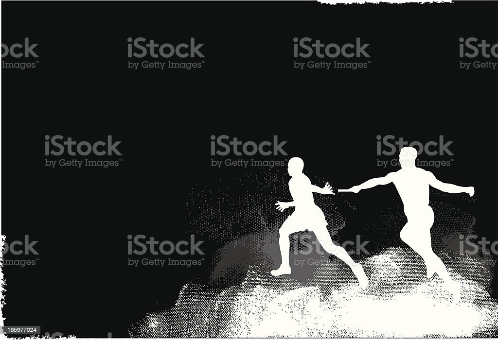 Relay Race Exchange Background Graphic vector art illustration
