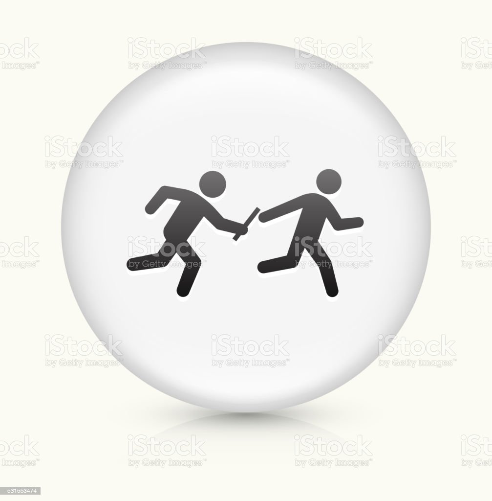 Relay Race icon on white round vector button vector art illustration