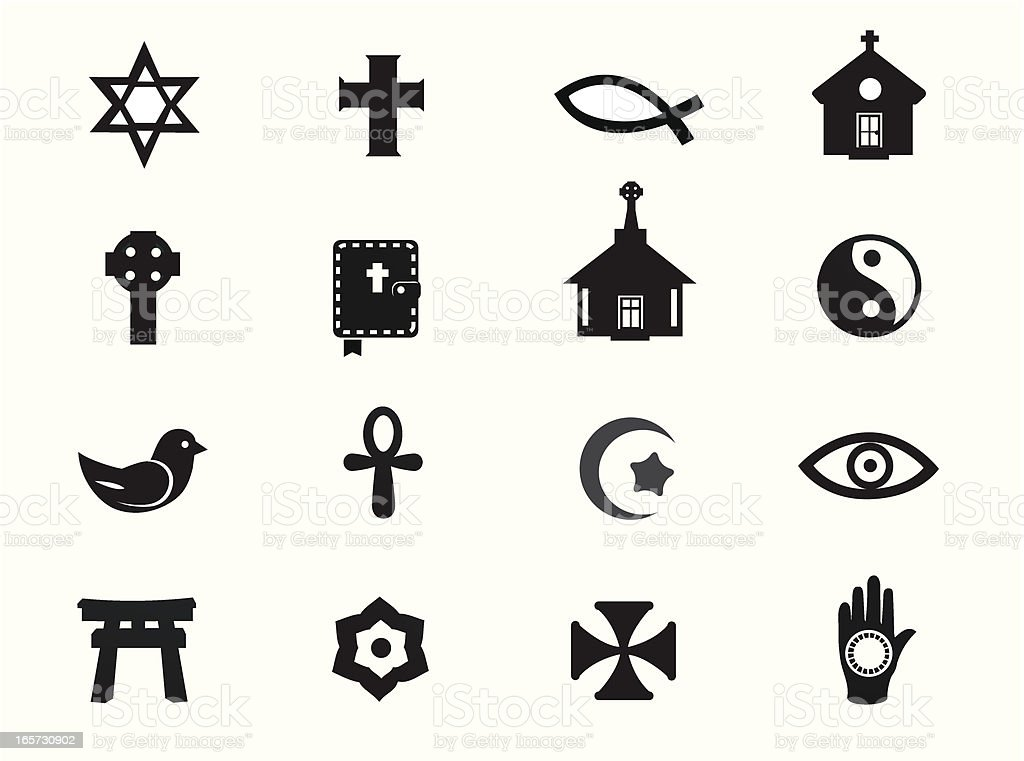 Relgious Icons vector art illustration