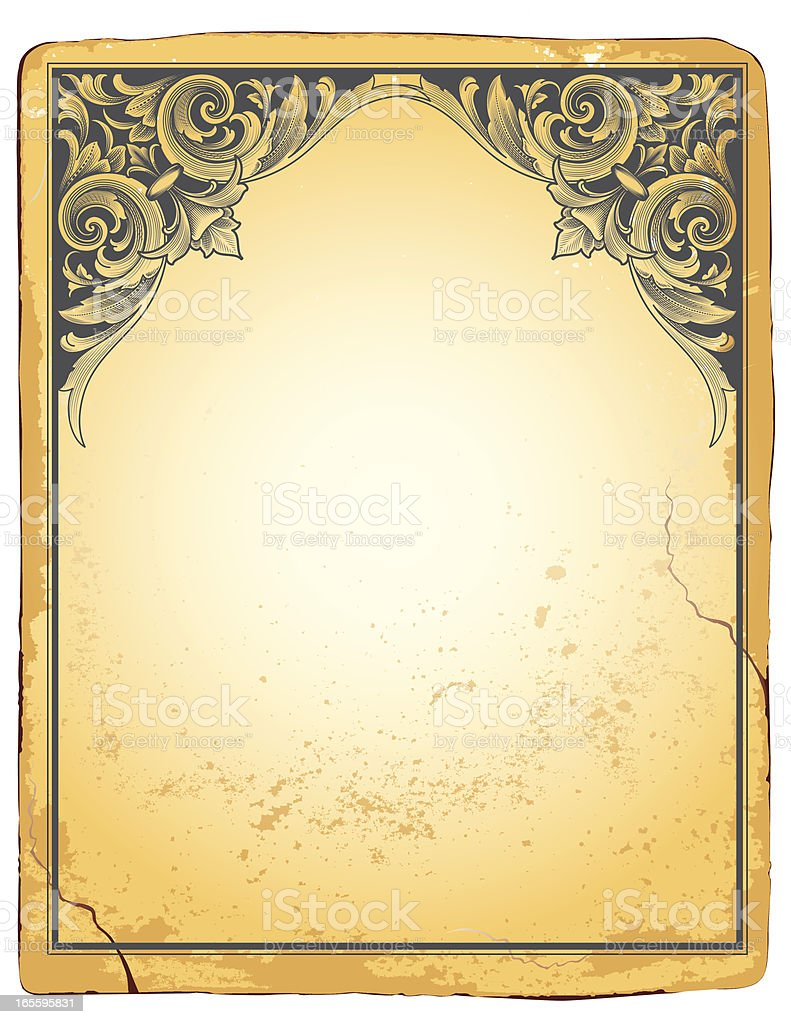 Relief Arabesque Header royalty-free stock vector art
