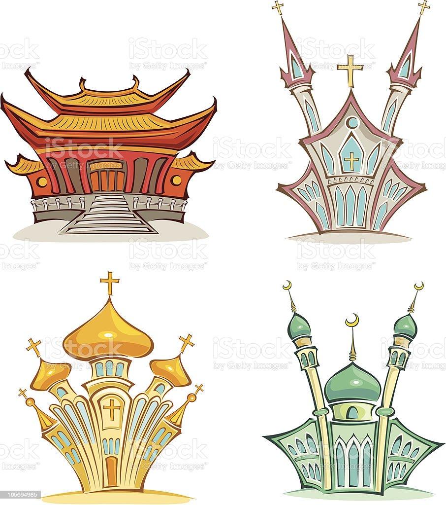 religion buildings royalty-free stock vector art